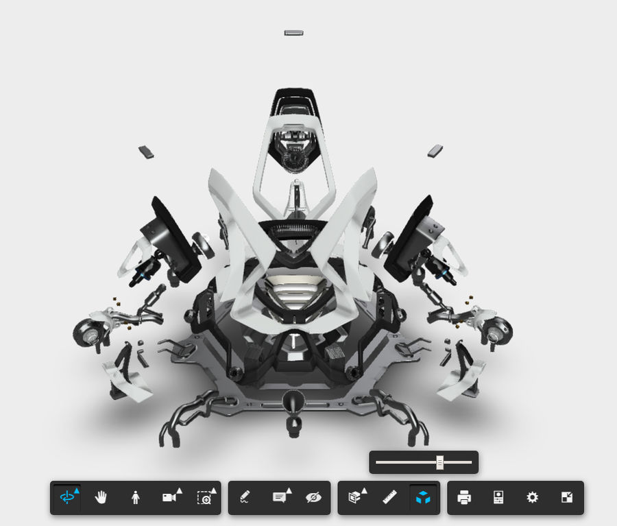 Futuristic Engine royalty-free 3d model - Preview no. 16