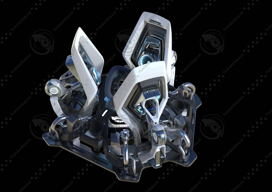 Futuristic Engine royalty-free 3d model - Preview no. 8