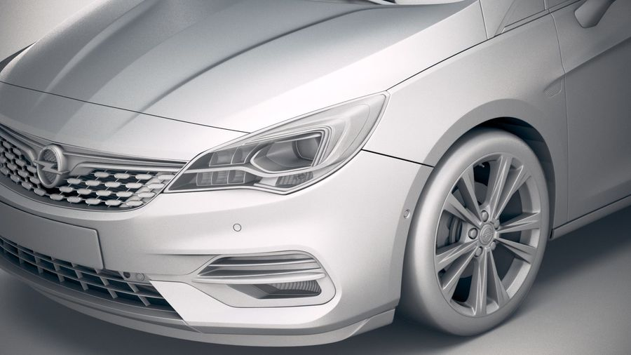 Opel Astra 2020 royalty-free 3d model - Preview no. 19