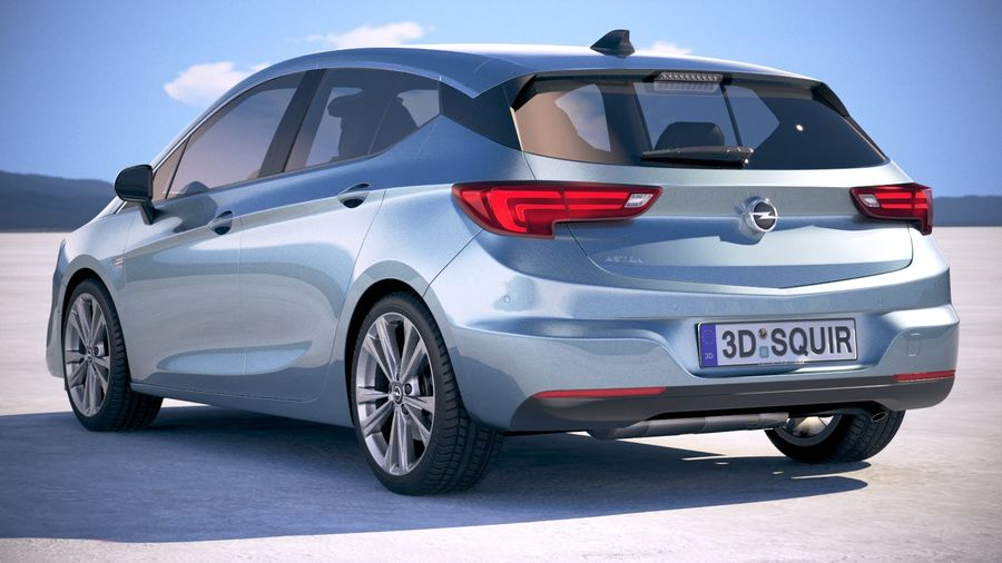 Opel Astra 2020 royalty-free 3d model - Preview no. 14