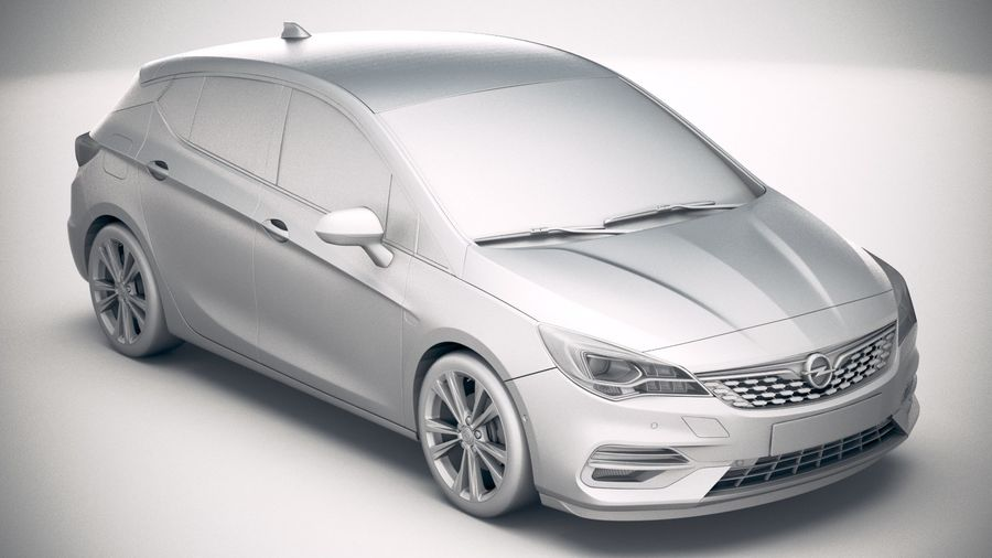 Opel Astra 2020 royalty-free 3d model - Preview no. 22