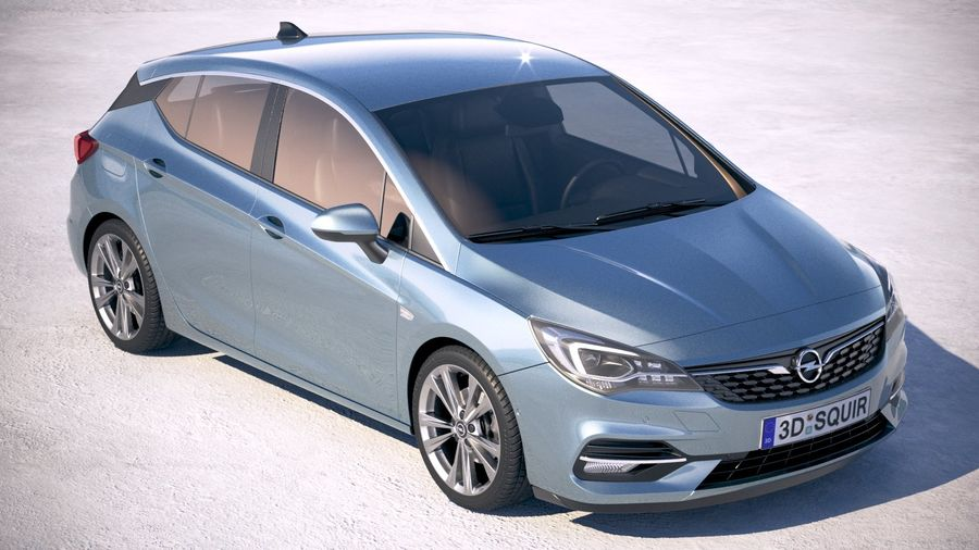 Opel Astra 2020 royalty-free 3d model - Preview no. 12