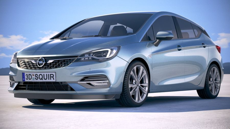 Opel Astra 2020 royalty-free 3d model - Preview no. 13