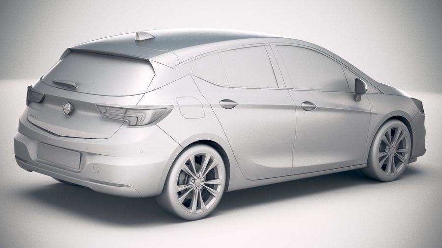 Opel Astra 2020 royalty-free 3d model - Preview no. 21