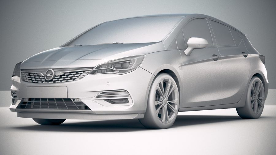 Opel Astra 2020 royalty-free 3d model - Preview no. 23