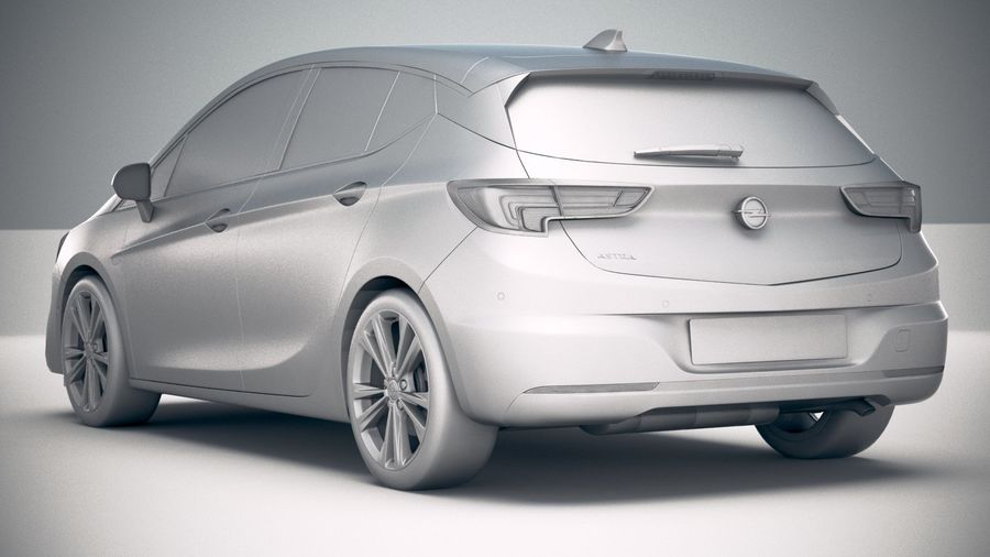 Opel Astra 2020 royalty-free 3d model - Preview no. 24