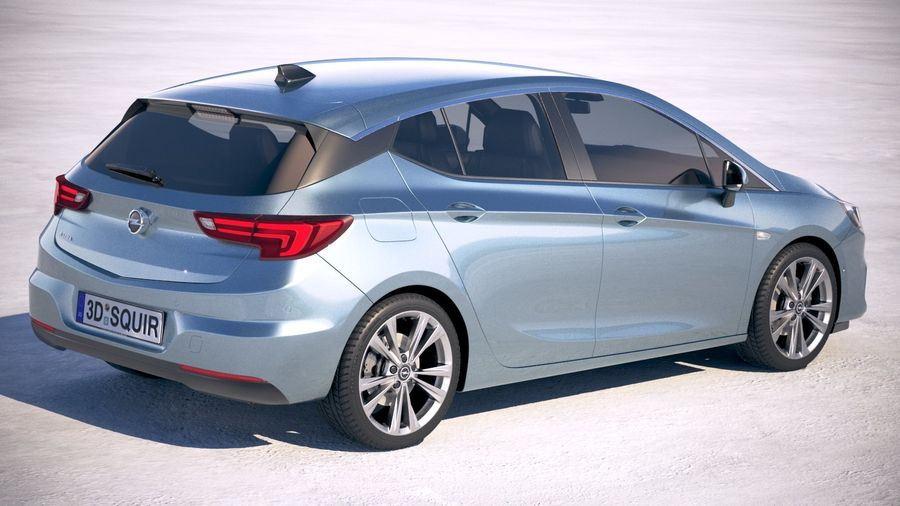 Opel Astra 2020 royalty-free 3d model - Preview no. 5