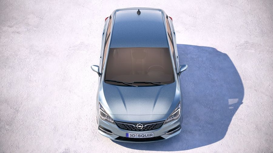 Opel Astra 2020 royalty-free 3d model - Preview no. 9