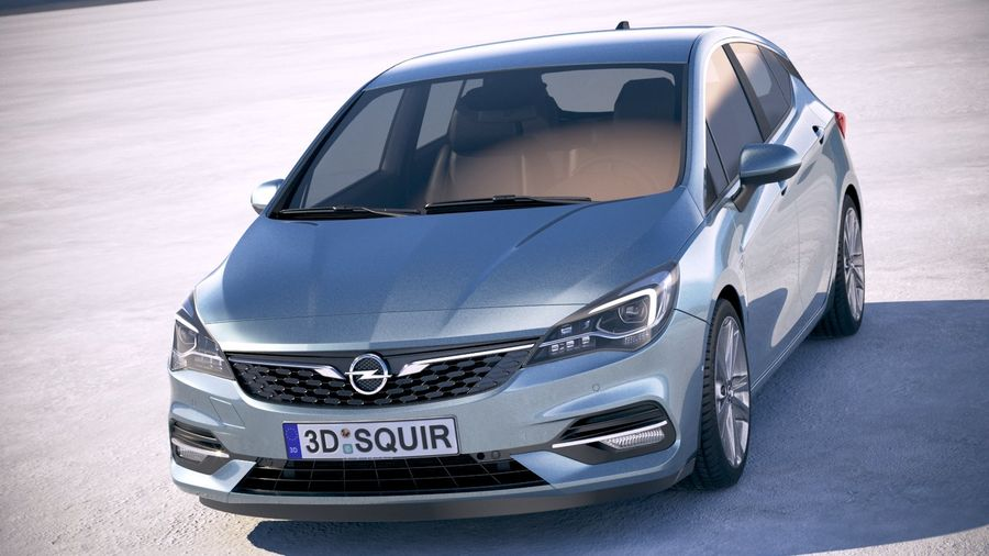 Opel Astra 2020 royalty-free 3d model - Preview no. 2