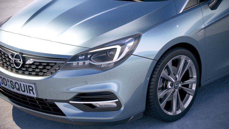 Opel Astra 2020 royalty-free 3d model - Preview no. 3