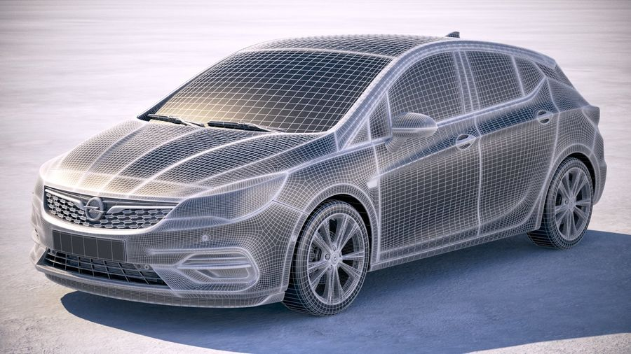Opel Astra 2020 royalty-free 3d model - Preview no. 25