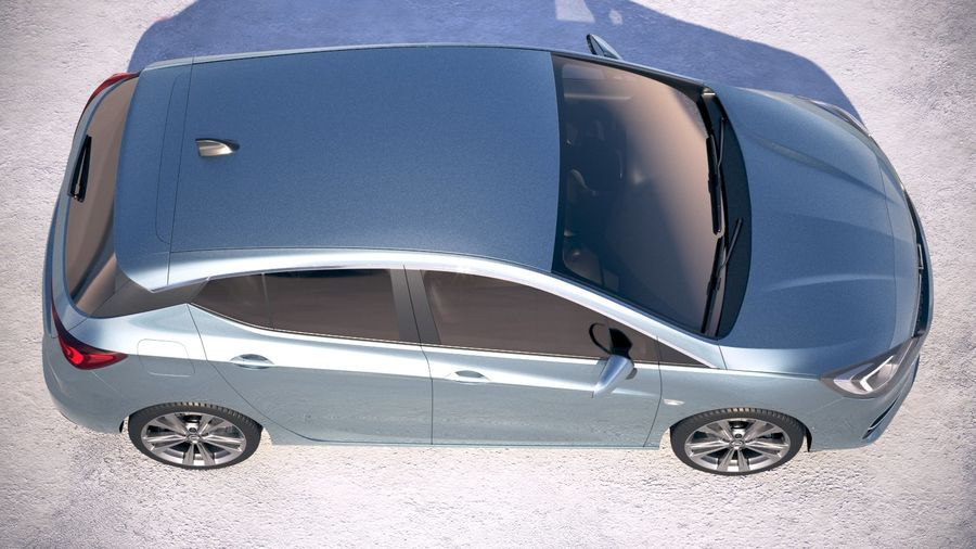 Opel Astra 2020 royalty-free 3d model - Preview no. 8