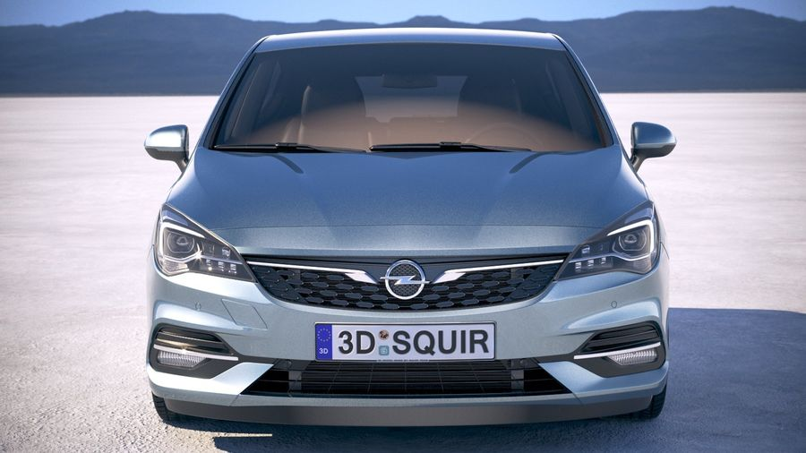 Opel Astra 2020 royalty-free 3d model - Preview no. 10