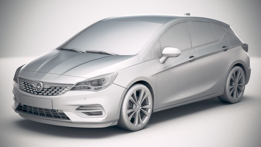 Opel Astra 2020 royalty-free 3d model - Preview no. 18