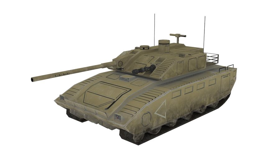 低ポリSFタンク1 royalty-free 3d model - Preview no. 1