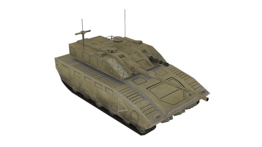 低ポリSFタンク1 royalty-free 3d model - Preview no. 3