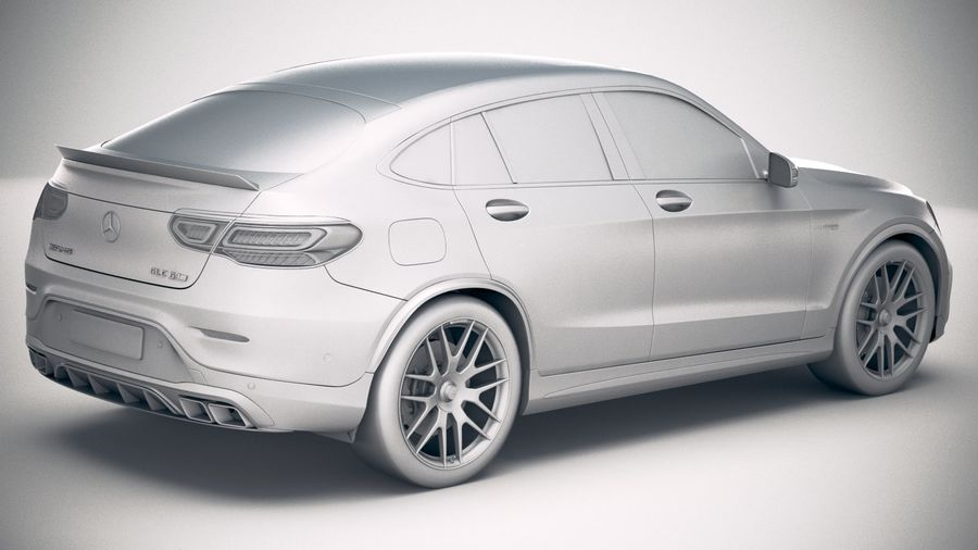 Mercedes-Benz GLC63 S AMG Coupe 2020 royalty-free 3d model - Preview no. 21
