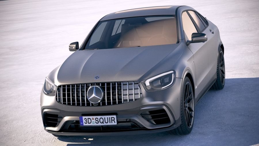 Mercedes-Benz GLC63 S AMG Coupe 2020 royalty-free 3d model - Preview no. 2