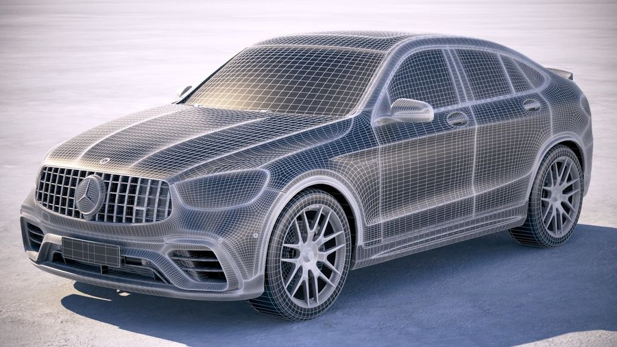 Mercedes-Benz GLC63 S AMG Coupe 2020 royalty-free 3d model - Preview no. 25