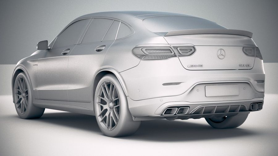 Mercedes-Benz GLC63 S AMG Coupe 2020 royalty-free 3d model - Preview no. 24
