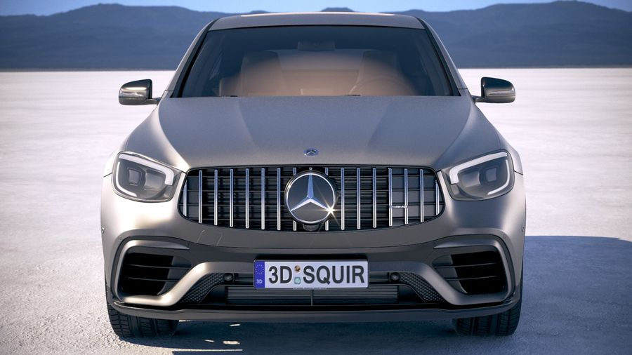 Mercedes-Benz GLC63 S AMG Coupe 2020 royalty-free 3d model - Preview no. 10
