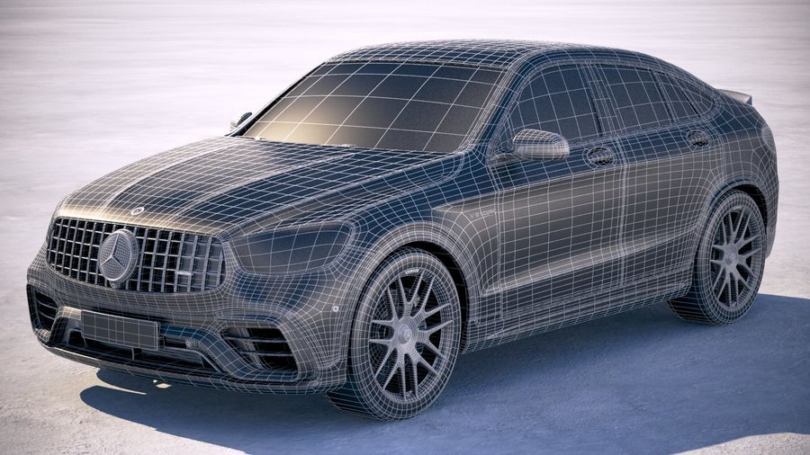 Mercedes-Benz GLC63 S AMG Coupe 2020 royalty-free 3d model - Preview no. 27