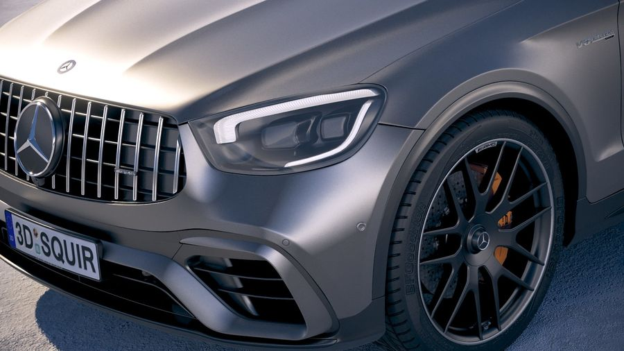 Mercedes-Benz GLC63 S AMG Coupe 2020 royalty-free 3d model - Preview no. 3