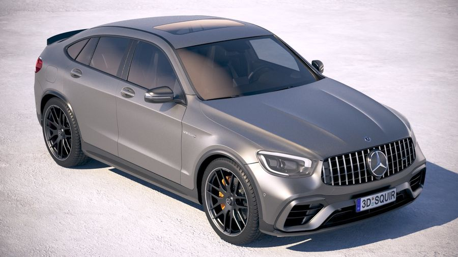 Mercedes-Benz GLC63 S AMG Coupe 2020 royalty-free 3d model - Preview no. 12