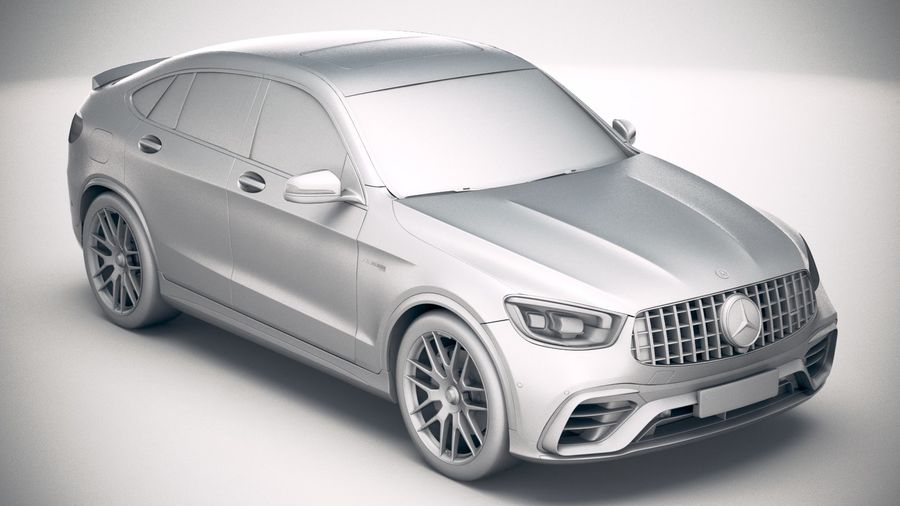 Mercedes-Benz GLC63 S AMG Coupe 2020 royalty-free 3d model - Preview no. 22