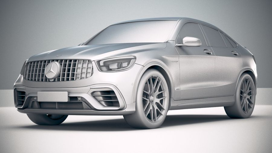 Mercedes-Benz GLC63 S AMG Coupe 2020 royalty-free 3d model - Preview no. 23