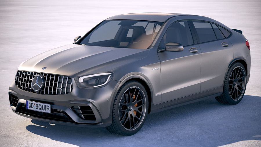 Mercedes-Benz GLC63 S AMG Coupe 2020 royalty-free 3d model - Preview no. 1