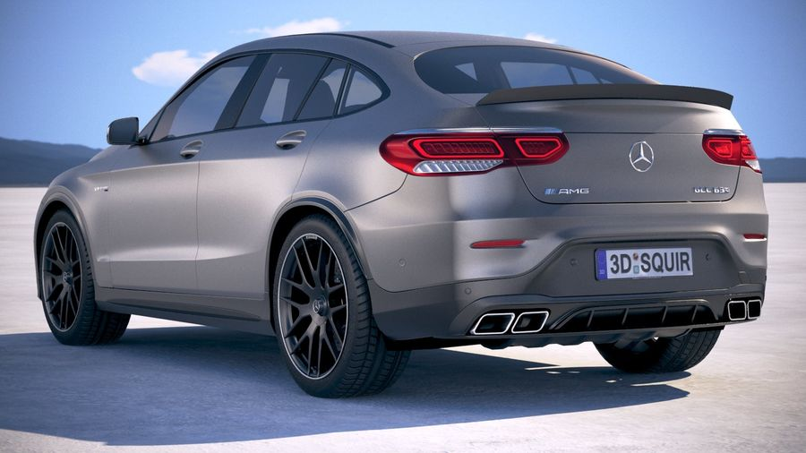 Mercedes-Benz GLC63 S AMG Coupe 2020 royalty-free 3d model - Preview no. 14