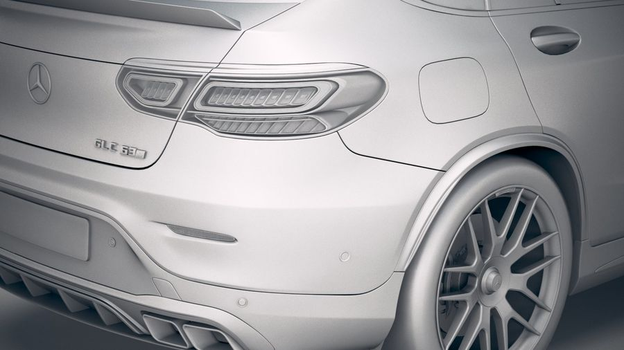 Mercedes-Benz GLC63 S AMG Coupe 2020 royalty-free 3d model - Preview no. 20