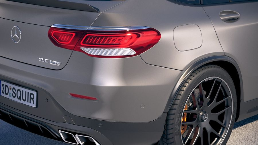 Mercedes-Benz GLC63 S AMG Coupe 2020 royalty-free 3d model - Preview no. 4