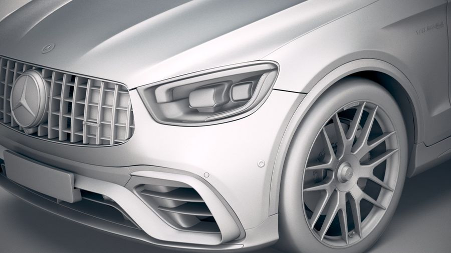 Mercedes-Benz GLC63 S AMG Coupe 2020 royalty-free 3d model - Preview no. 19