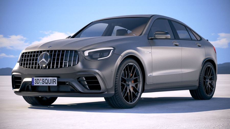 Mercedes-Benz GLC63 S AMG Coupe 2020 royalty-free 3d model - Preview no. 13