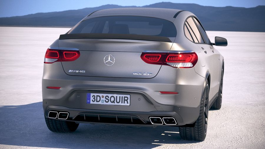 Mercedes-Benz GLC63 S AMG Coupe 2020 royalty-free 3d model - Preview no. 6