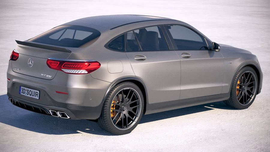 Mercedes-Benz GLC63 S AMG Coupe 2020 royalty-free 3d model - Preview no. 5