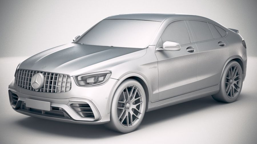 Mercedes-Benz GLC63 S AMG Coupe 2020 royalty-free 3d model - Preview no. 18