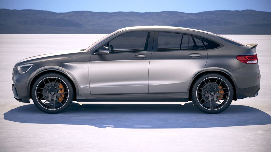 Mercedes-Benz GLC63 S AMG Coupe 2020 royalty-free 3d model - Preview no. 7