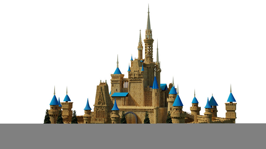 Slott royalty-free 3d model - Preview no. 1