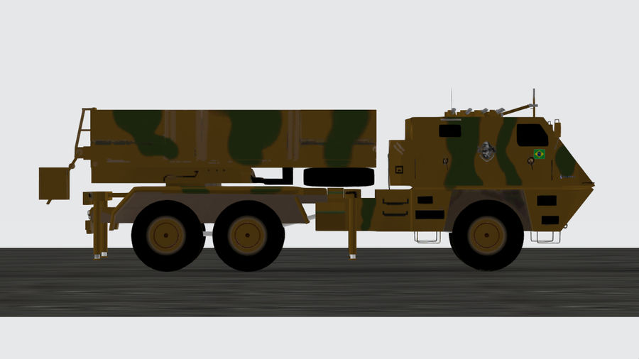 Avibras Astros II MLRS EB royalty-free 3d model - Preview no. 1