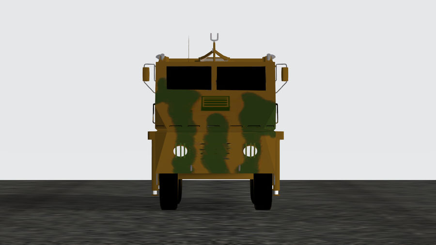Avibras Astros II MLRS EB royalty-free 3d model - Preview no. 4