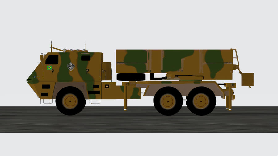 Avibras Astros II MLRS EB royalty-free 3d model - Preview no. 3