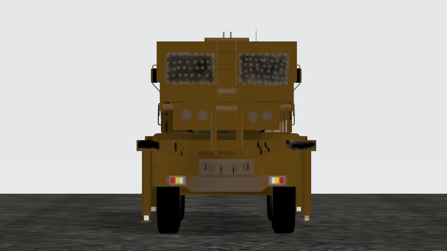 Avibras Astros II MLRS EB royalty-free 3d model - Preview no. 2