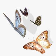 Animowane motyle Low Poly 3d model