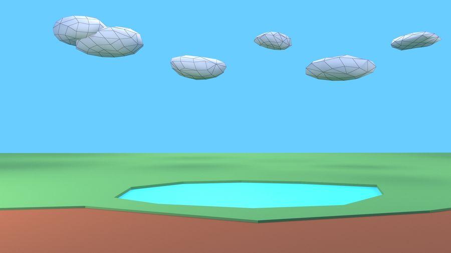 木植物岩低ポリ royalty-free 3d model - Preview no. 16
