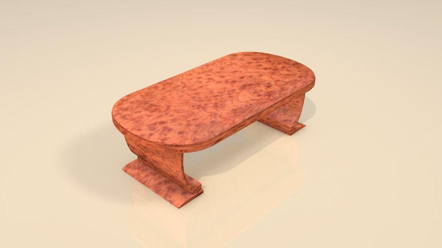 Деревянная мебель для гостиной royalty-free 3d model - Preview no. 5