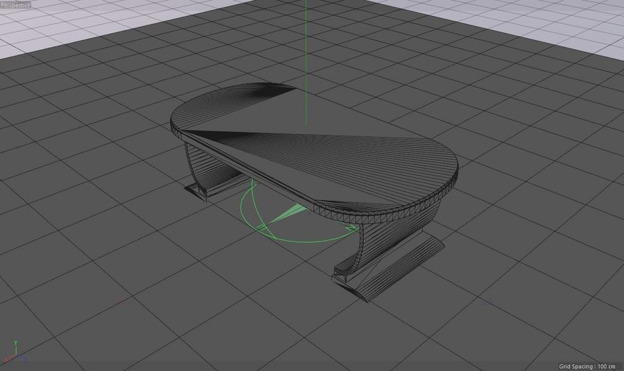 Деревянная мебель для гостиной royalty-free 3d model - Preview no. 8