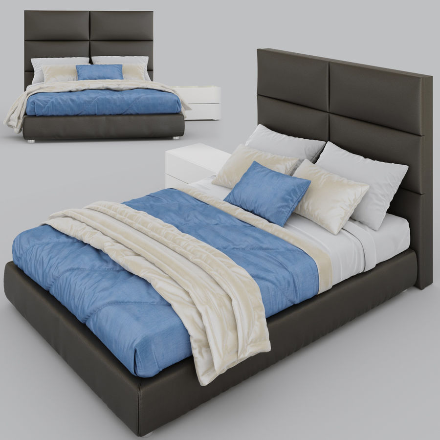 Riga Bed royalty-free 3d model - Preview no. 1